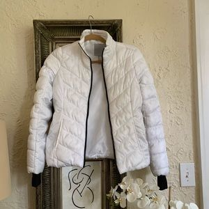 Live Love Dream XSmall Puffer Jacket White NWOT